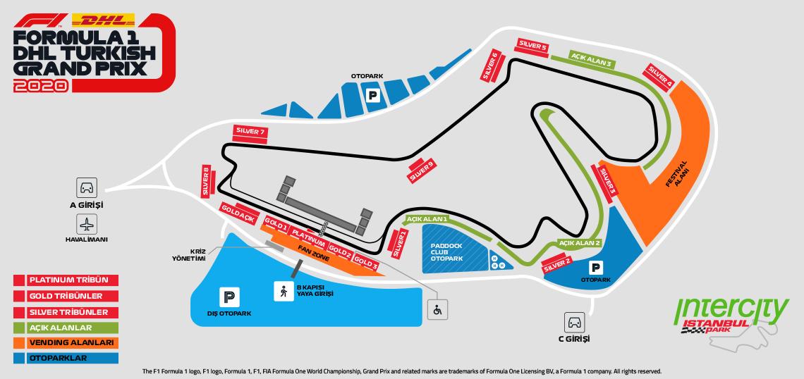 Схема на пистата за посещение на Ф1 в Истанбул 2021 с включен билет